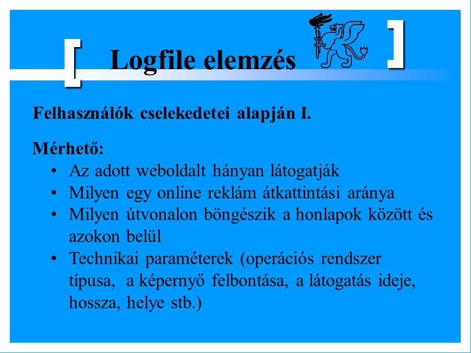 [ Logfile elemzés Felhasználók cselekedetei alapján I. Mérhető: